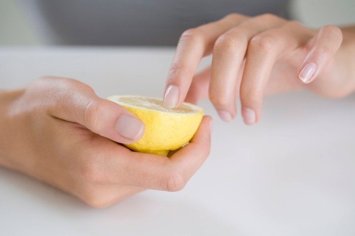 Got stains? Soak your nails in juice of half a lemon for a few minutes, scrub with an old toothbrush, wash off with warm water and find clear, shining nails!