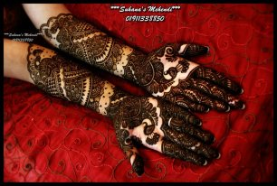 Mehendi for bride