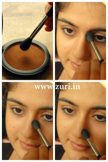 How to contour a round indian face