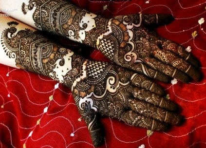 mehandi designs for indian brides
