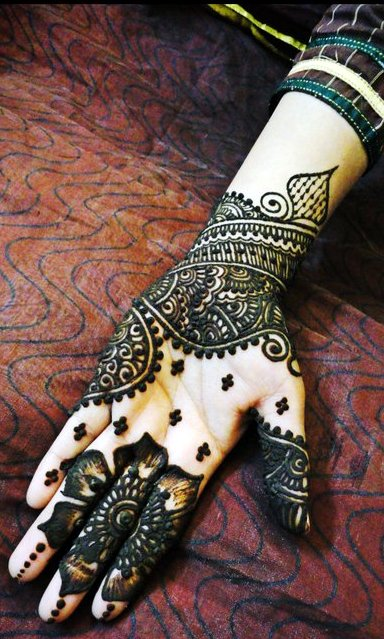 Arabic Mehndi For Palm : Modern arabic mehndi designs for hands indian