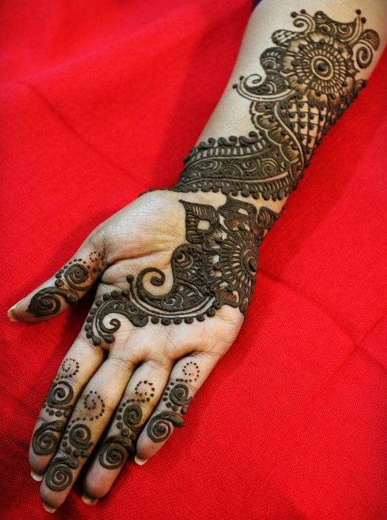 Modern Arabic Mehndi Designs 2014 : Modern arabic mehndi designs for hands indian