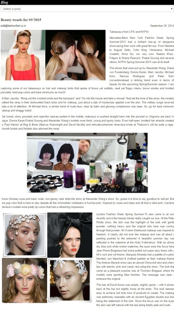 FashionFad.in- Beauty Trends at LFW and NYFW SS 2015 01