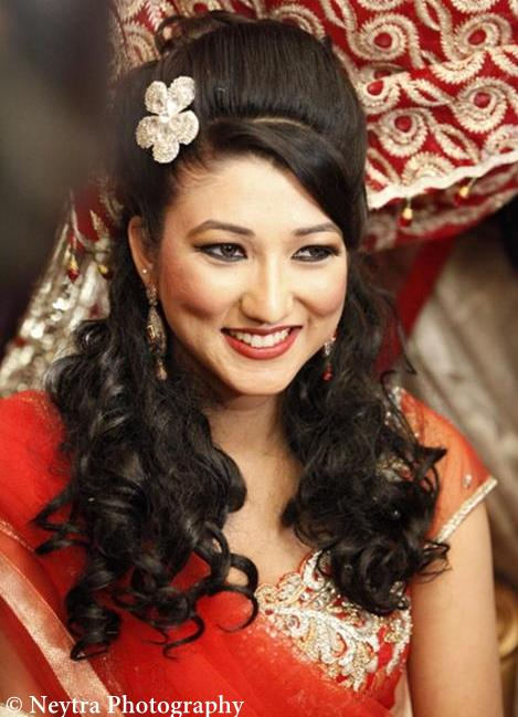 Fantastic 21 Gorgeous Indian Bridal Hairstyles Indian Makeup And Beauty Hairstyle Inspiration Daily Dogsangcom
