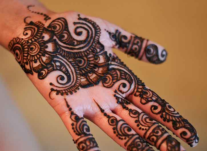 Mehndi Hairstyles Step By Step : Easy mehndi designs for hands indian makeup and