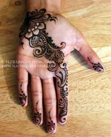 easy mehndi designs for hands 15