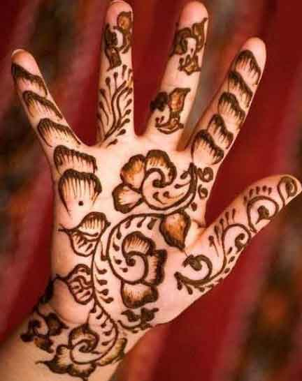 Hand Mehndi Tips : Easy mehndi designs for hands indian makeup and