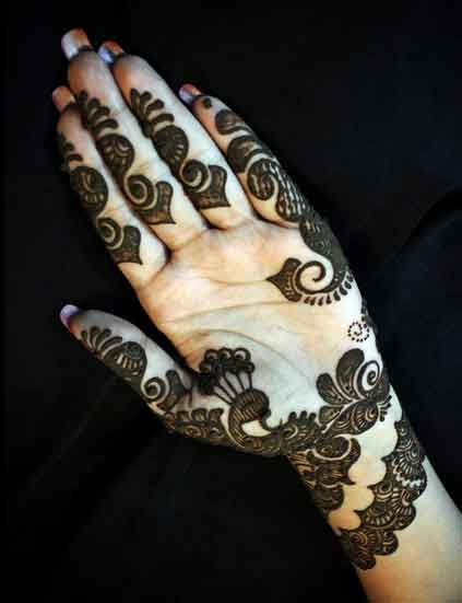 Mehndi Makeup Tips In : Simple mehndi designs for hands indian makeup and