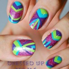 nail art designs for short nails 16