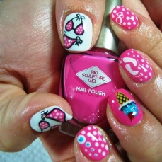 nail art designs for short nails 17