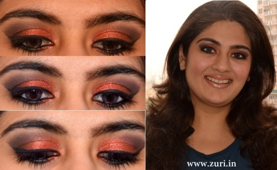 How to apply makeup - Bold red, black & purple eyes 01