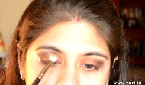 How to apply makeup - Bold red, black & purple eyes 06