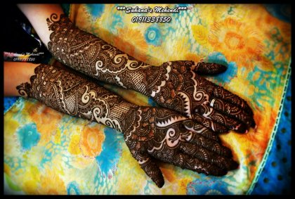 Mehendi for hands for Sabyasachi Anarkali