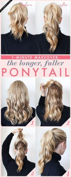 Ponytail hairstyles for long hair 01