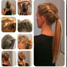 Ponytail hairstyles for long hair 03