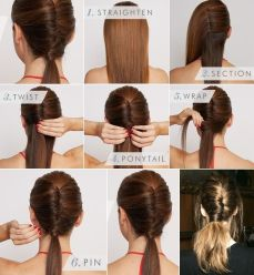 Ponytail hairstyles for long hair 04