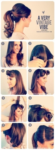 Ponytail hairstyles for long hair 11