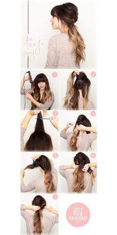 Ponytail hairstyles for long hair 12