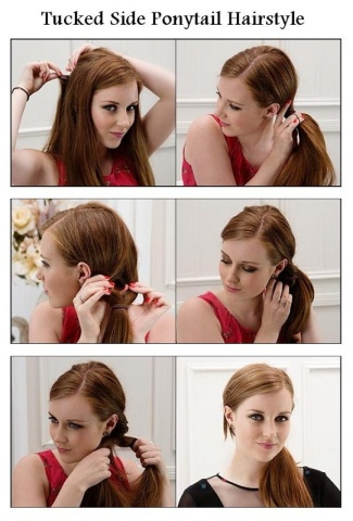 Ponytail hairstyles for long hair 16