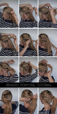 Ponytail hairstyles for long hair 21