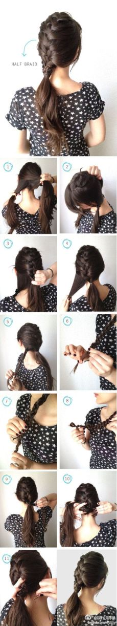 Ponytail hairstyles for long hair 23