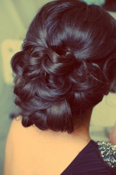 Indian bridal hairstyles updo's 03