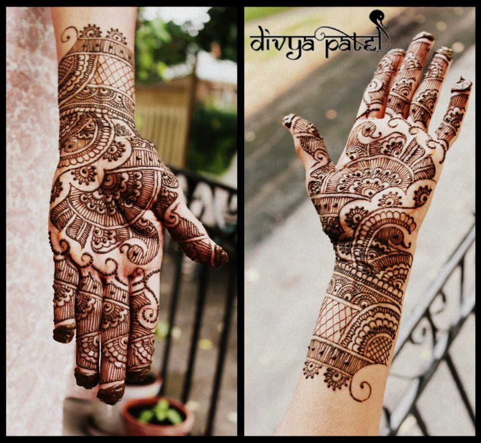 Stunning Mehandi Designs By Divya Patel Indian Makeup