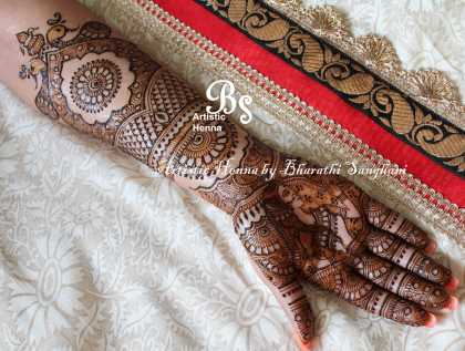 Mehandi designs by Bharathi 04