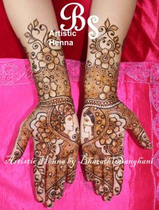 mehandi designs by bharathi sanghani indian makeup and