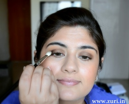 Bronze eye shadow with purple & blue 02