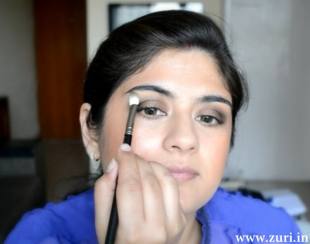 Bronze eye shadow with purple & blue 04