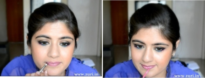Bronze eye shadow with purple & blue 11