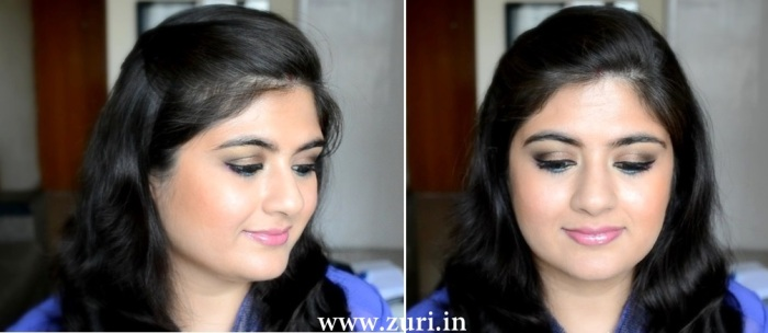 Bronze eye shadow with purple & blue 13