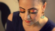 Colorful & glamorous Indian eye makeup tutorial
