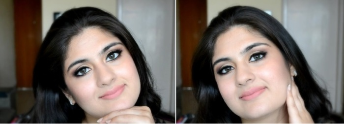 How to apply makeup - Chic bronze and purple eye makeup 03