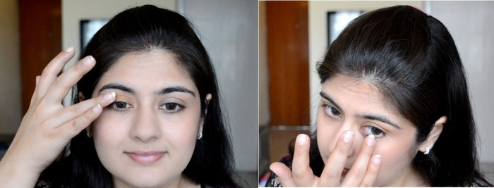 How to apply makeup - Chic bronze and purple eye makeup 07