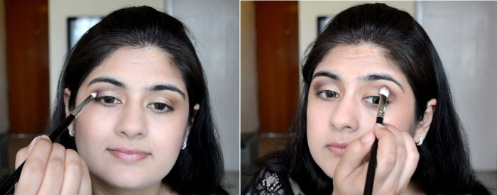 How to apply makeup - Chic bronze and purple eye makeup 10