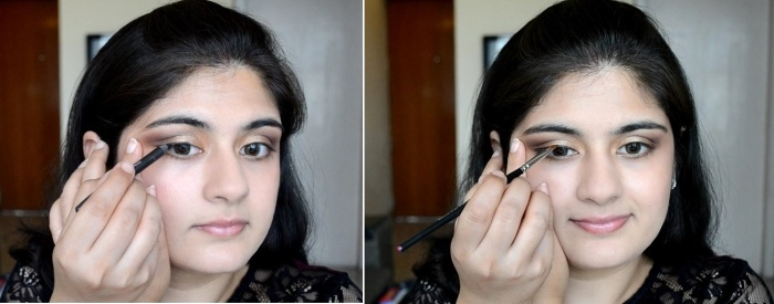 How to apply makeup - Chic bronze and purple eye makeup 14
