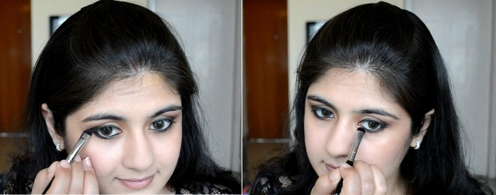 How to apply makeup - Chic bronze and purple eye makeup 15