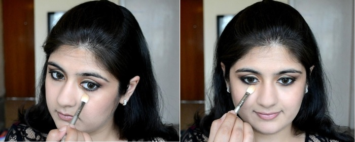 How to apply makeup - Chic bronze and purple eye makeup 17
