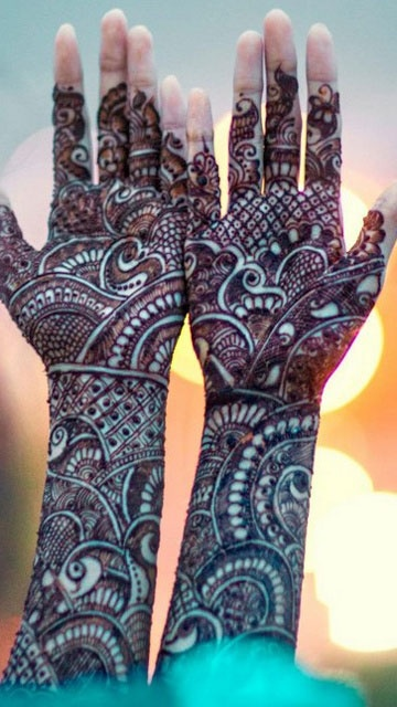 Mehndi Hairstyles Review : Dulhan mehndi designs indian makeup and beauty