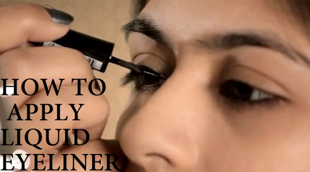 How To Apply Liquid Eyeliner | Indian Makeup and Beauty ...