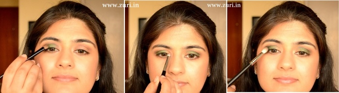How to apply makeup - Green smokey eyes 03