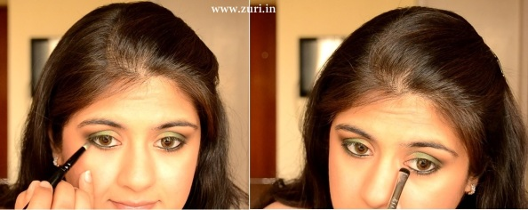 How to apply makeup - Green smokey eyes 06
