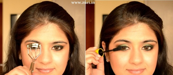 How to apply makeup - Green smokey eyes 08