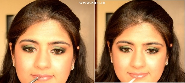 How to apply makeup - Green smokey eyes 10