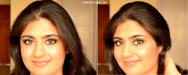 How to apply makeup - Green smokey eyes 19