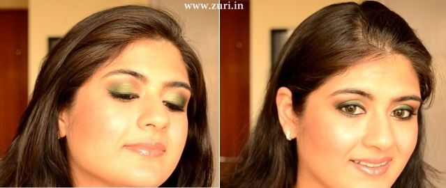 How to apply makeup - Green smokey eyes 20