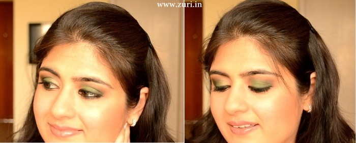 How to apply makeup - Green smokey eyes 21
