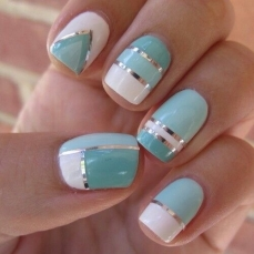 Simple nail art designs 29